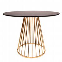 Mmilo Black Liverpool Marble Table with Golden Chrome Legs 120cm